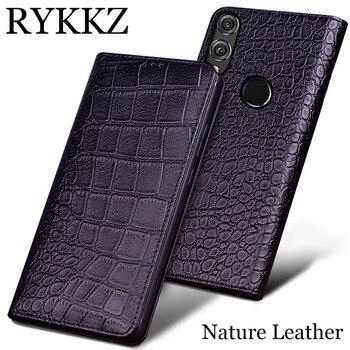 40741c585999 RYKKZ натуральная кожа чехол для huawei Honor 8X Max Сверхтонкий чехол-книжка  ручной работы кожаные чехлы для huawei Honor 8X Max