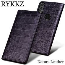 RYKKZ Genuine Leather Case For Huawei Honor 8X Max Ultra Thin Flip Cover Handmake Cases 8x