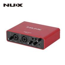 NUX UC-2 Mini Port USB Audio Interface XLR 6.35mm Input Output Audio Interface for Mic MIDI Instrument Recording Playback стоимость