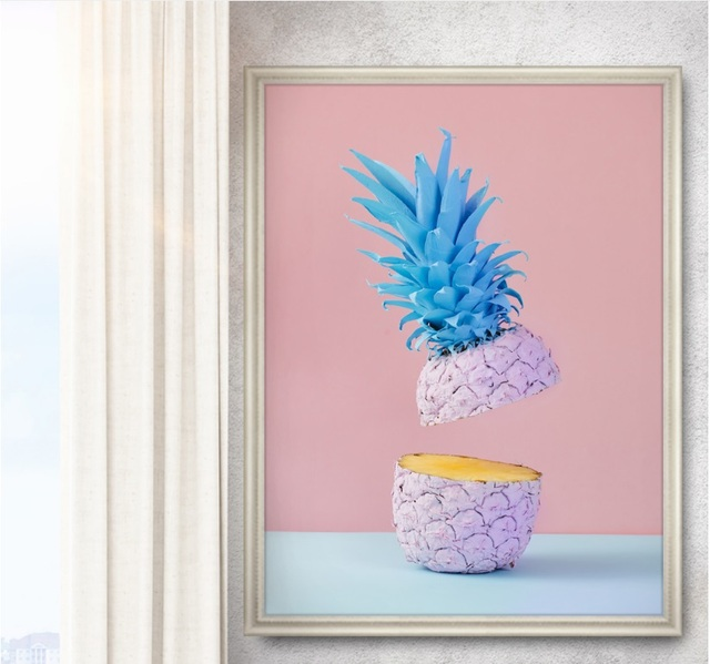 HJIAART Nordic Creative Pineapple Banana Modular Print Picture Wall ...