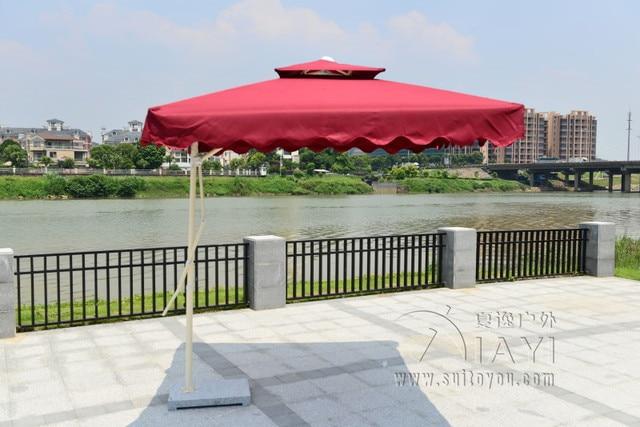 2.2x2.2 meter steel iron outdoor parasol garden sun umbrella patio furniture cover sunshade (no stone base)