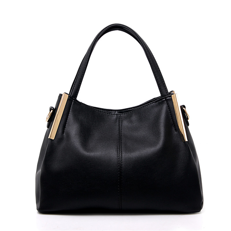 ФОТО Luxury 2017 Leather Women Handbag Bolsas De Couro Fashion Famous Brands Shoulder Bag Black Bag Ladies Bolsas Femininas Sac