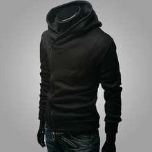 Young Male Hooded Solid Slim Coat and Casual Clothes Korean Students Thin Men