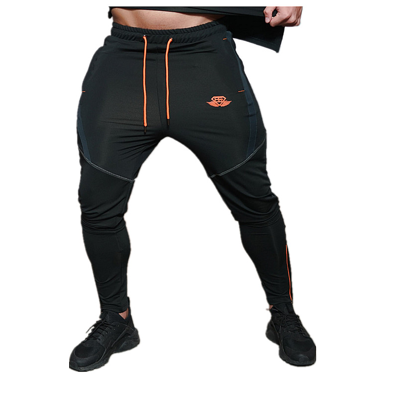 2017 new gold medal fitness leisure stretch pants stretch cotton men's pants in the body engineer gyms pants, little foot