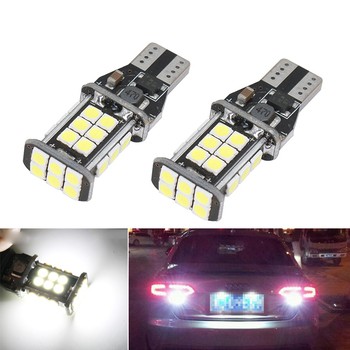 2X W16W T15 921 912 LED Bulbs Canbus Car Backup Reverse Lights For Audi A4 B6 B8 A6 A3 A5 BMW E90 E91 E92 E93 Mazda 6 Ford Focus image