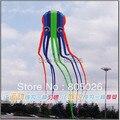 Venta caliente de Alta calidad Libre del envío 23 m multicolor Pulpo kite flying superior de control rápido juguetes al aire libre bolsa de peces de colores con mango