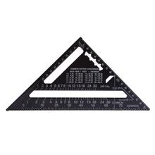 New 7inch 12inch Aluminum Alloy Measuring Ruler Speed Square Angles Protractor Measuring Tools Ruler for Woodworking