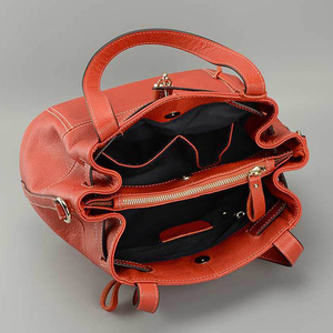 Image 5 - Zency 100% Soft Genuine Leather Elegant Women Shoulder Tote Bag Charm Orange Fashion Messenger Crossbody Purse With Lock Handbag