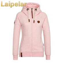Plus Size S-5XL Hoodie Coats Women Winter Autumn 2018 High Collar Zip-up Hooded Jacket Cotton Ladies Coat moletom feminino