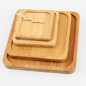 elenxs Tray Bamboo Home Square Accessories Cup Holder