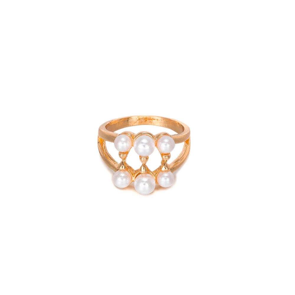 Conjuntos de joyas de perlas africanas MUKUN, conjunto de collar de Color dorado para boda, anillo de novia a la moda para mujer, accesorios para pendientes