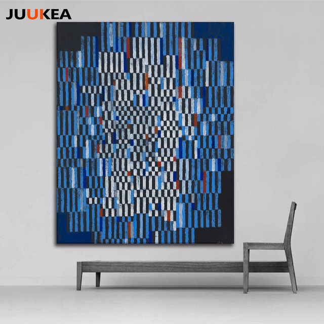 Us 7 22 20 Off Modern Fashion Abstract Creative Design Color Layout Canvas Art Print Painting Poster Wall Picture For Living Room Home Decor In