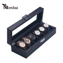 2016 New 6 slot Jewelry Display Stands Vitrine Wrist Watch Showed Tray Holder Bracelets Showcase Bijoux Organizer Box(China)