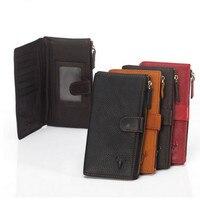 Individuation Wallet High Quality Unisex Travel Organizer Genuine Leather Practical Women Purse Men Long Wallets Hasp