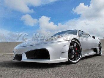 Portion Carbon Fiber Front Bumper Fit For 2004-2009 F430 Coupe Spider Scuderia 16M VSD Premier 4509 Limited Model Style