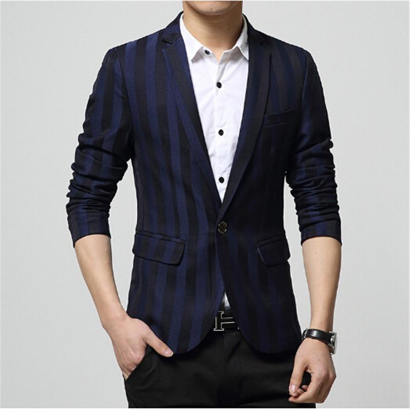 Casual Blazautumn Fashion 2016 Unique Mens Blazer Casual Slim Fit Cotton Single Breasted Suit Jacket Slim Blazer For Men Blazer ...