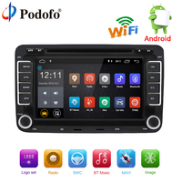Podofo Car Multimedia player Android 7.1 Autoradio GPS 2 Din Car Radio Audio For Volkswagen/VW/Passat/POLO/GOLF/Skoda/Seat/Jetta