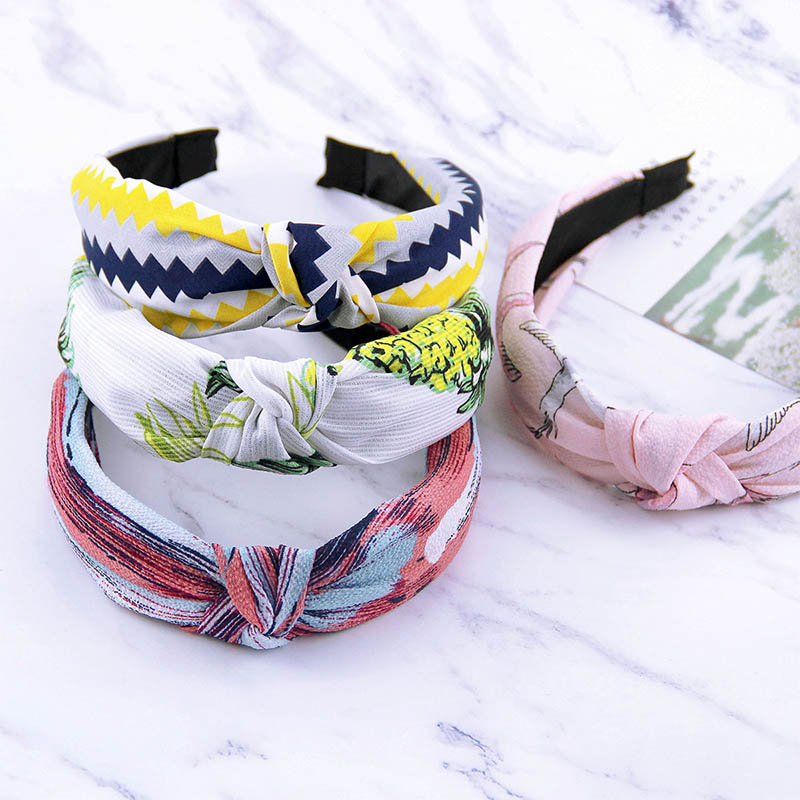 Fashion 3pcs/set Fresh Printed Korean Hair Band Girls Women Headband Top Grade Accessories