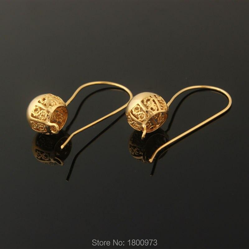 Fashion Jewelry Hollow Earrings18k Gold Color Ball Shape Stub Earrings Jewelry For Women ...