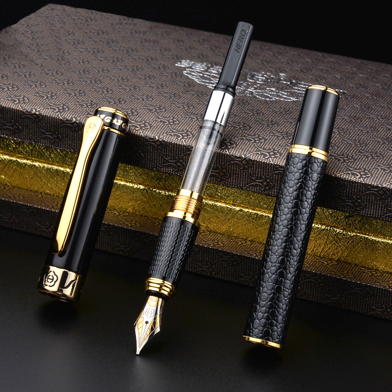 Luxury Nobility Fashion Metal Iraurita Fountain Pen 0.5mm Ink Business office Writing Pens stationery School Supplies 1012
