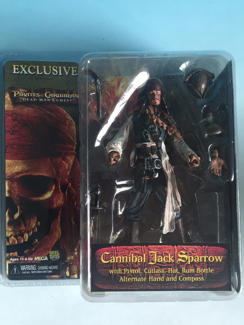 Pirates of the Caribbean NECA Series Captain Jack Sparrow cacique Cannibals 7 inch Action Figure Toy loz pirates of the caribbean jack salazar mini blocks brick heads figure toy assemblage toys offical authorized distributer