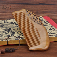 High qualityCherry wood comb wood natural wood carved lettering gift ebony comb anti static bag comb AR288
