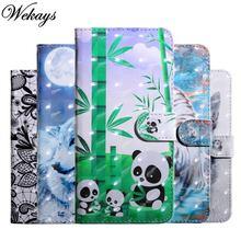 Чехол бумажник wekays для lg x power 2 Кожаные чехлы с мультяшным