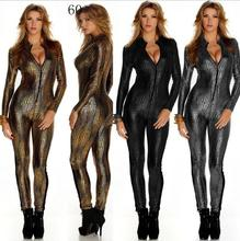 2019 New Sexy Female Dj Dance Costume 3 Colors DS Gold Elastic Black Snakeskin Jazz Dancer Perfomance Wear