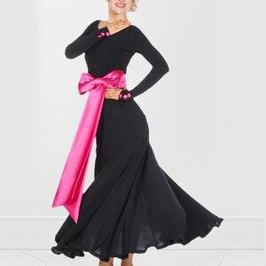 Image 1 - Ballroom dance costume sexy senior spandex ballroom dance dress for women ballroom dance competition dresses S XXXXL