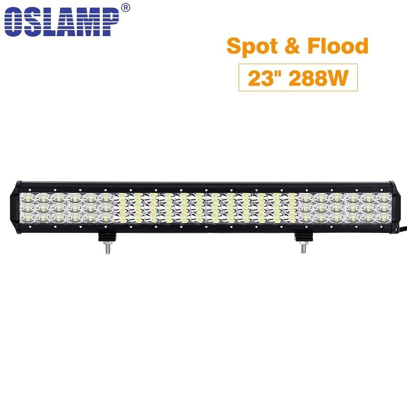 Oslamp Work Light 23inch 288W Triple Row LED Light Bar Offroad Combo Beam 12v 24v For 4x4 4WD SUV ATV RZV Trailer Truck LED Bar