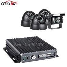 4Pcs AHD Car Camera Mobile Dvr Kits GPS SD Card 4CH 720P AHD Car Video Recorder With 1.3MP Camera Local Realtime Video Mdvr