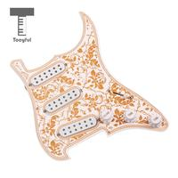 Tooyful 3 ply Loaded Prewired Pickguard SSS Pickup Guard Plate for Strat ST Guitar Replacement