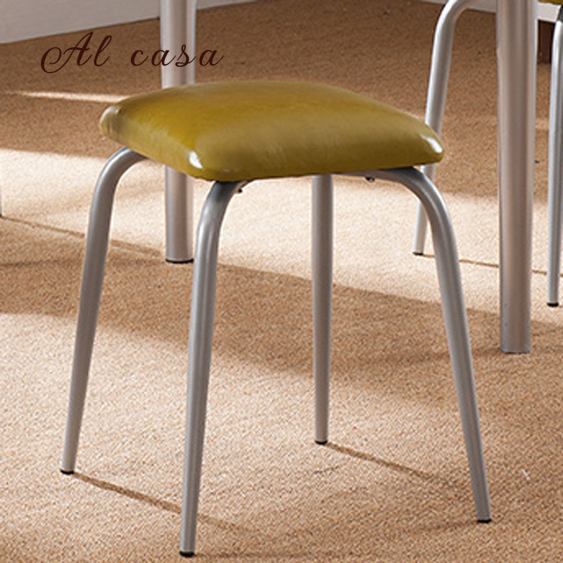 Free shipping dining stool bathroom chair wrought iron seat soft Pu cushion living room furniture