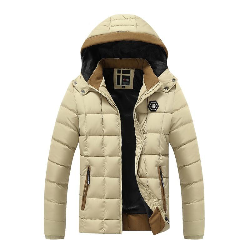 Thicken Parka For Men 2017 Winter Fashion Design Fleece Liner Men Casual Coats Hooded Slim Fit Keep Warm Hombre Brand Jackets