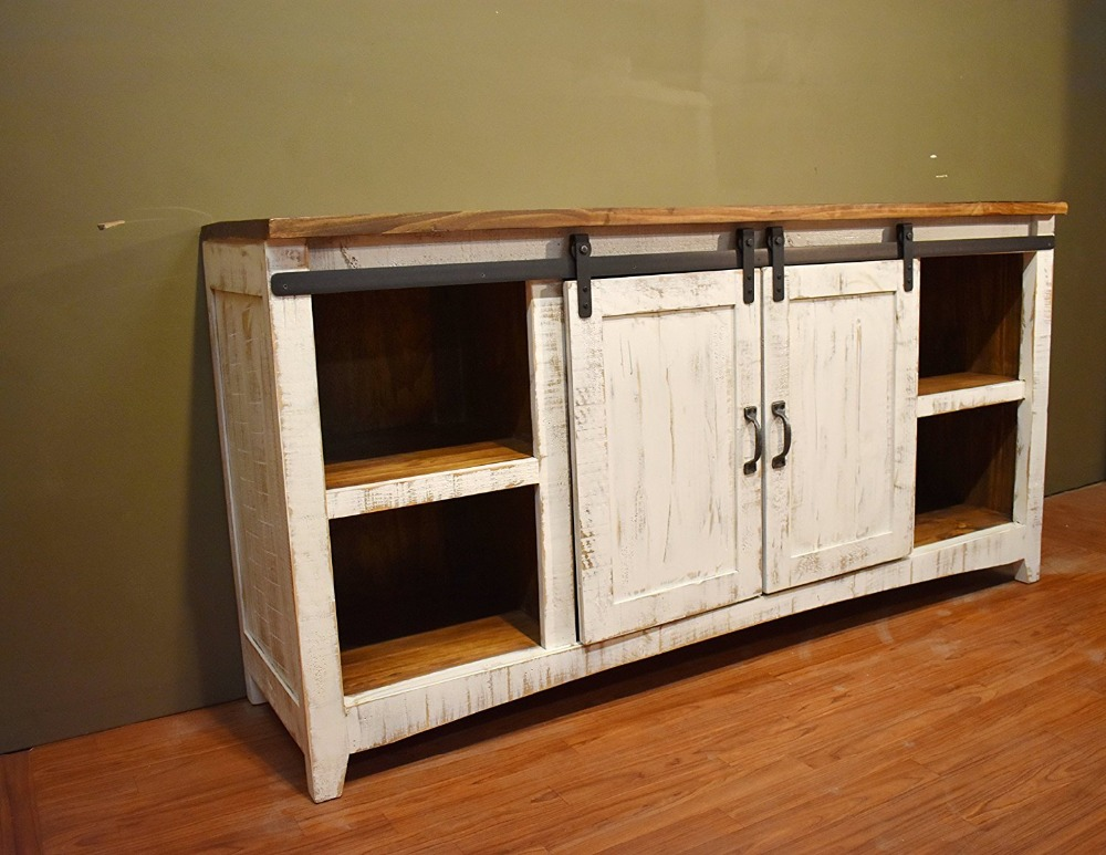 60 Quot 70 Quot 80 Quot Wood Cabinet Double Sliding Barn Door Mini