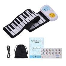 Портативный 49-электронный ключ пианино кремния наматывания пианино клавиатура Встроенный динамик с стикер с рисунком из мультфильма для Для детей