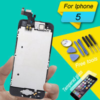 lcd display full set for iphone 5 lcd complete with home button and camera full set for iphone 5 5c 5s display aseembly