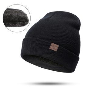 SIMPLESHOW Men Knit Cotton Cap Unisex Winter Women Hat 79aa3c256387