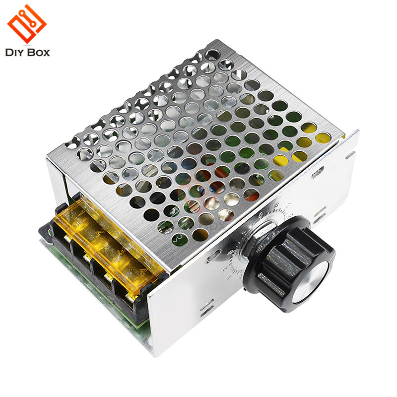 4000W 220V AC SCR Motor Speed Controller Module Voltage Regulator Temperature Dimmer For Electric Furnace Water Heater LED Light