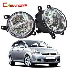 Cawanerl 2 X H8 H9 H11 Car LED Light Bulb Front Right + Left Fog Light DRL Daytime Running Light For Toyota Corolla Saloon Verso