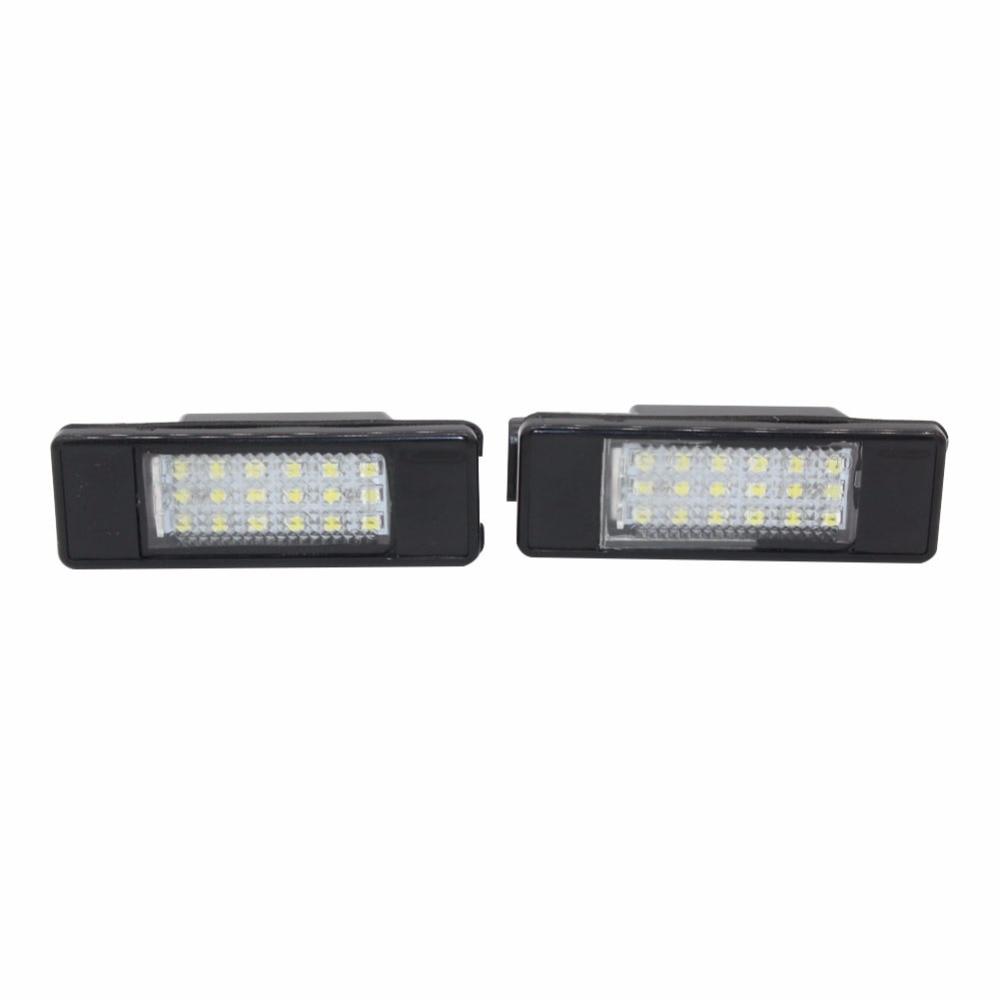 License Plate Light Lamps for Renault Twingo II Clio III Megane II 3D5D Kombi Laguna III Velsatis Error Free 18 SMD LED Car
