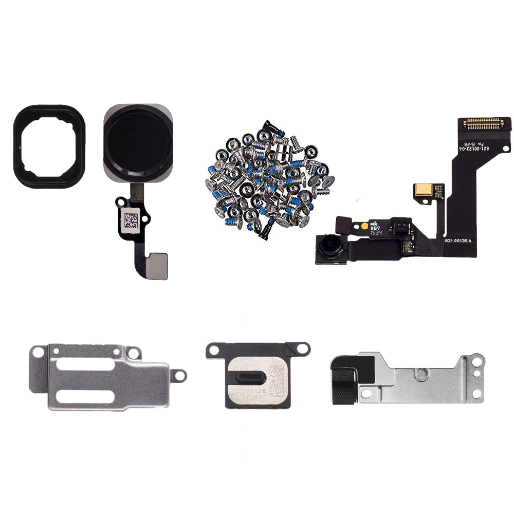 7pcs/set For IPhone 6 6s 6 Plus Full Set Screws + Home Button Key + Ear Speaker + Front Camera Flex Cable + Metal Bracket