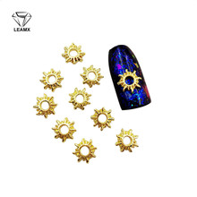 50 PCS 3D Nail Art Deco Hollow-out The Sun Shape Alloy Stickers Manicure Beautiful Girl Adornment Glamour