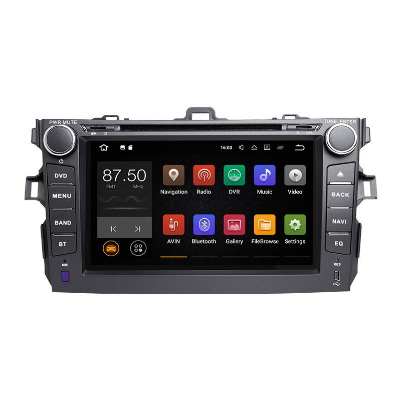 Xonrich Car Multimedia Player 2 Din Android 8.1 GPS For Toyota Corolla 2007 2008 2009 2010 2011 AutoRadio Stereo Navigation Wifi
