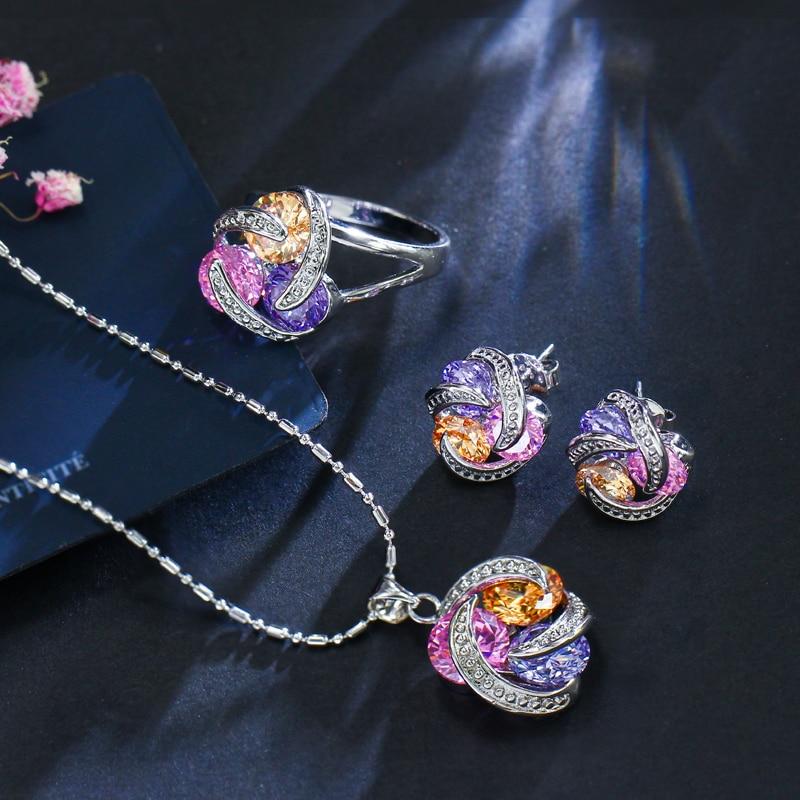 ThreeGraces New Fashion 925 ստերլինգ արծաթյա - Նորաձև զարդեր - Լուսանկար 3