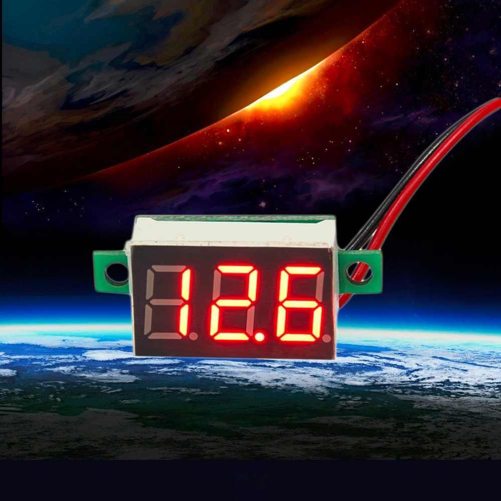 1 pc DC 4.7 〜 32 V 電源供給が必要なミニ赤色 Led パネル電圧計 3-デジタル調整電圧計 200 ms/時間