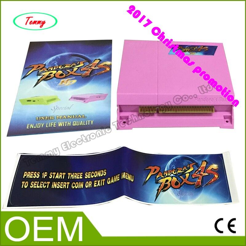 ФОТО 2017 VGA &CGA,HDMI  OUTPUT  Pandora box 4S 680 in 1 multi arcade game board