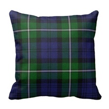 Fit Traditional Forbes Tartan Plaid Pillow Case (Size: 45x45cm) Free Shipping