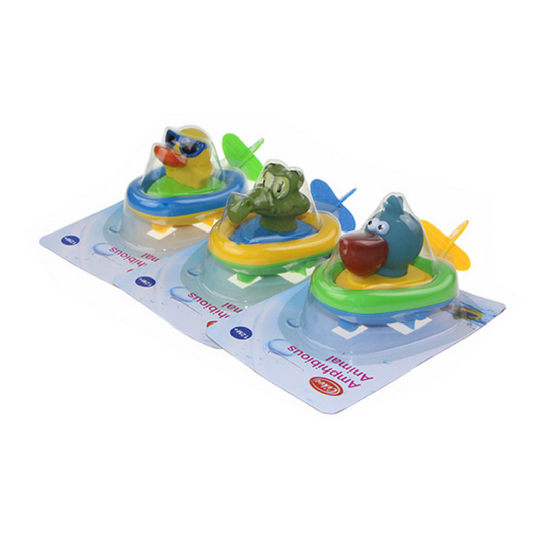 NFSTRIKE Animal Boat Baby Bath Bracing Wire Clockwork Floating Water Bath Toy Games Outdoor Aquatic Toys For Kids - Type Random