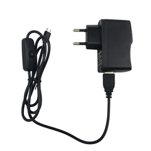 Raspberry pi 2 Power charger plug Micro USB adapter + Switch button Cable EU US UK  For Raspberry pi zero for Xiaomi mobile